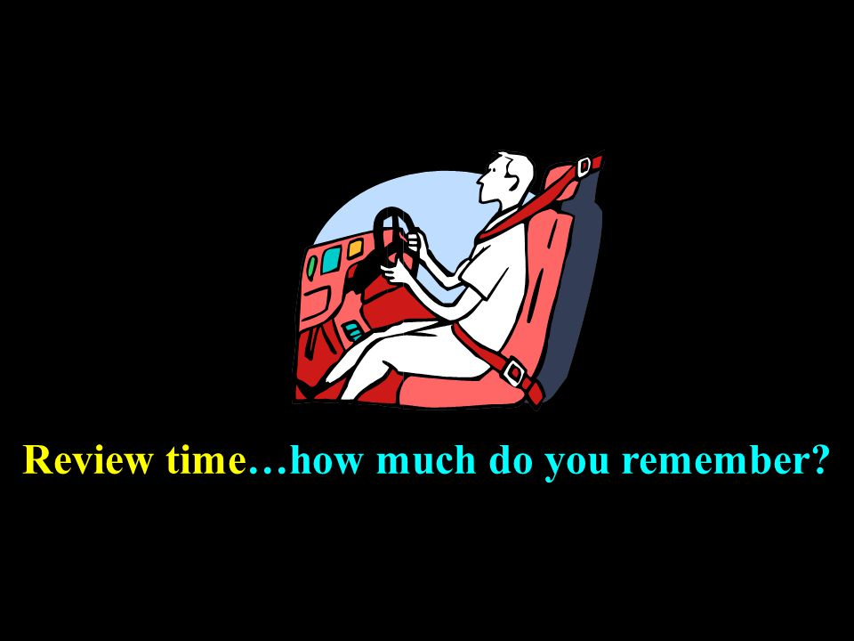 Review time…how much do you remember