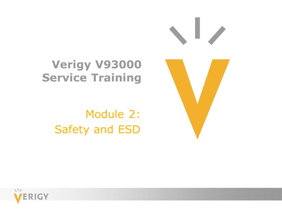 Verigy V93000 Service Training