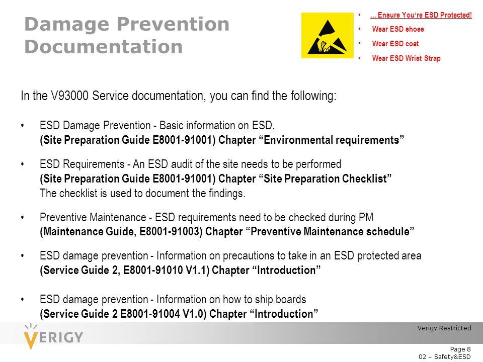 Damage Prevention Documentation