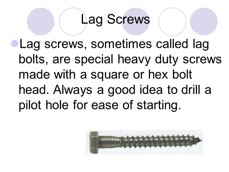 Lag Screws
