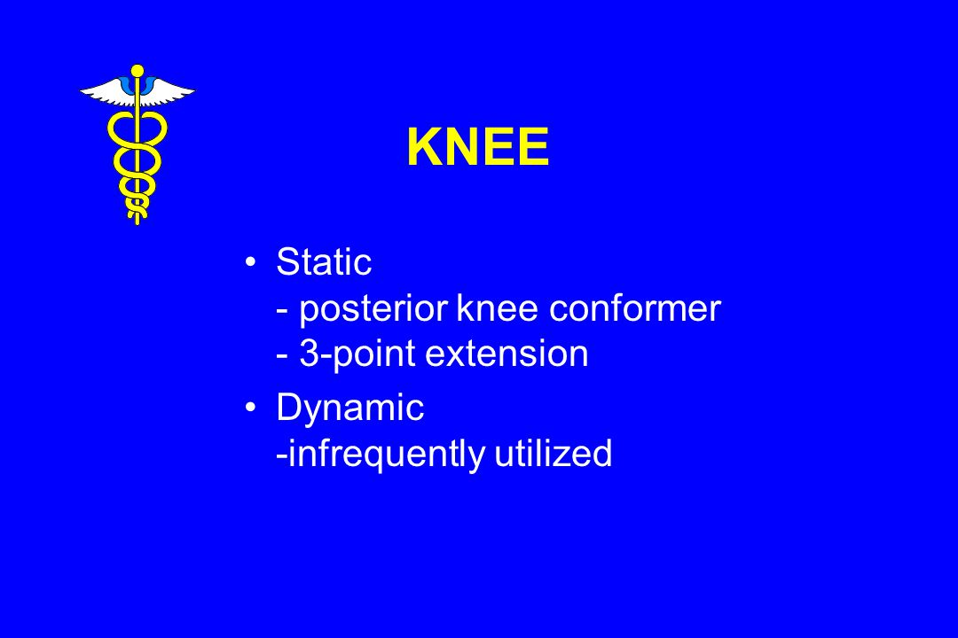 KNEE Static - posterior knee conformer - 3-point extension