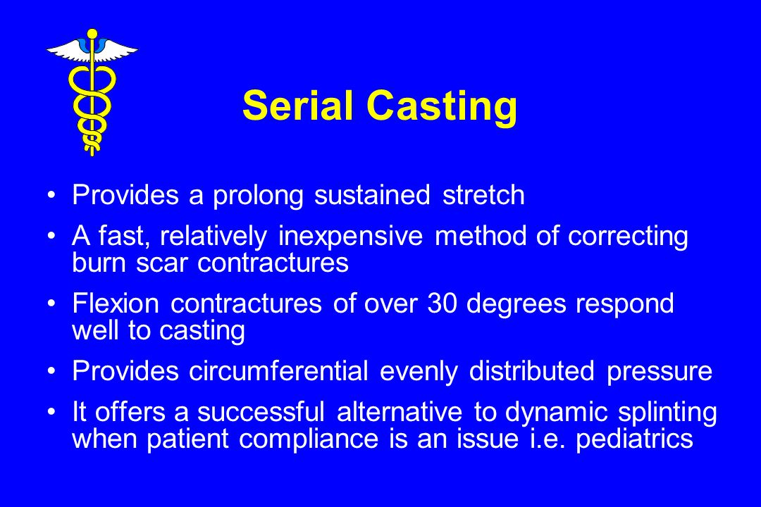 Serial Casting Provides a prolong sustained stretch