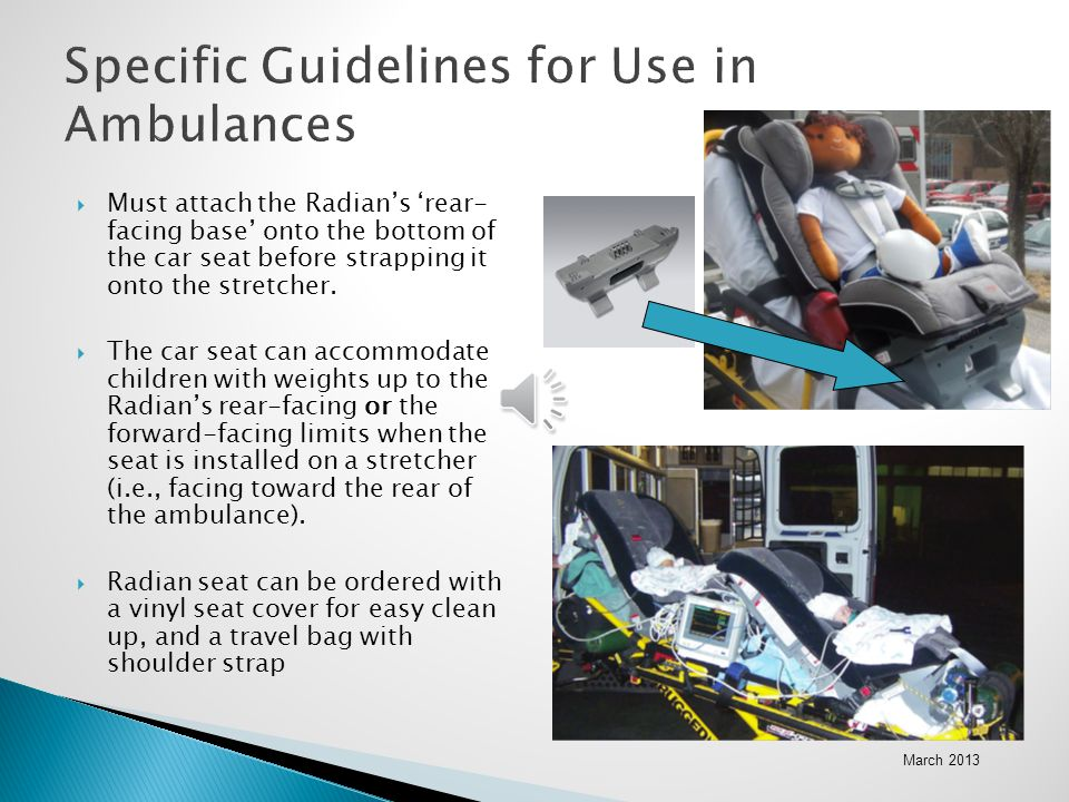 Specific Guidelines for Use in Ambulances