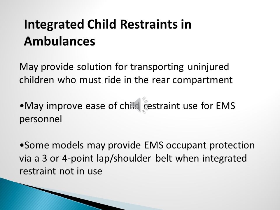 Integrated Child Restraints in Ambulances
