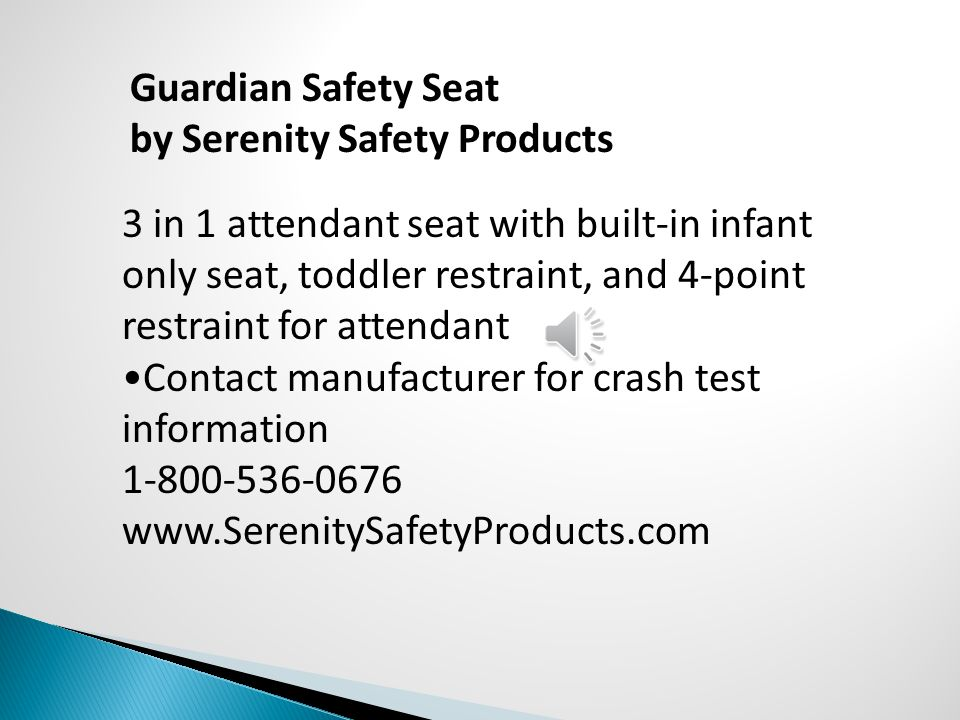 Guardian Safety Seat by Serenity Safety Products.