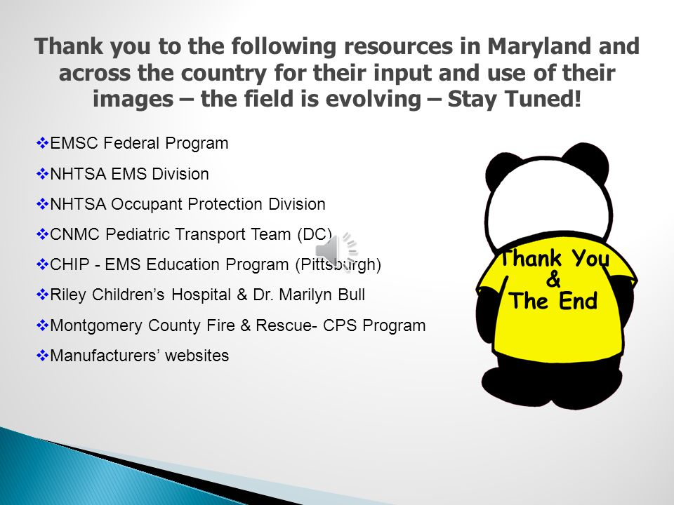 Thank you to the following resources in Maryland and across the country for their input and use of their images – the field is evolving – Stay Tuned!