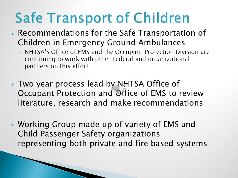 Safe Transport of Children