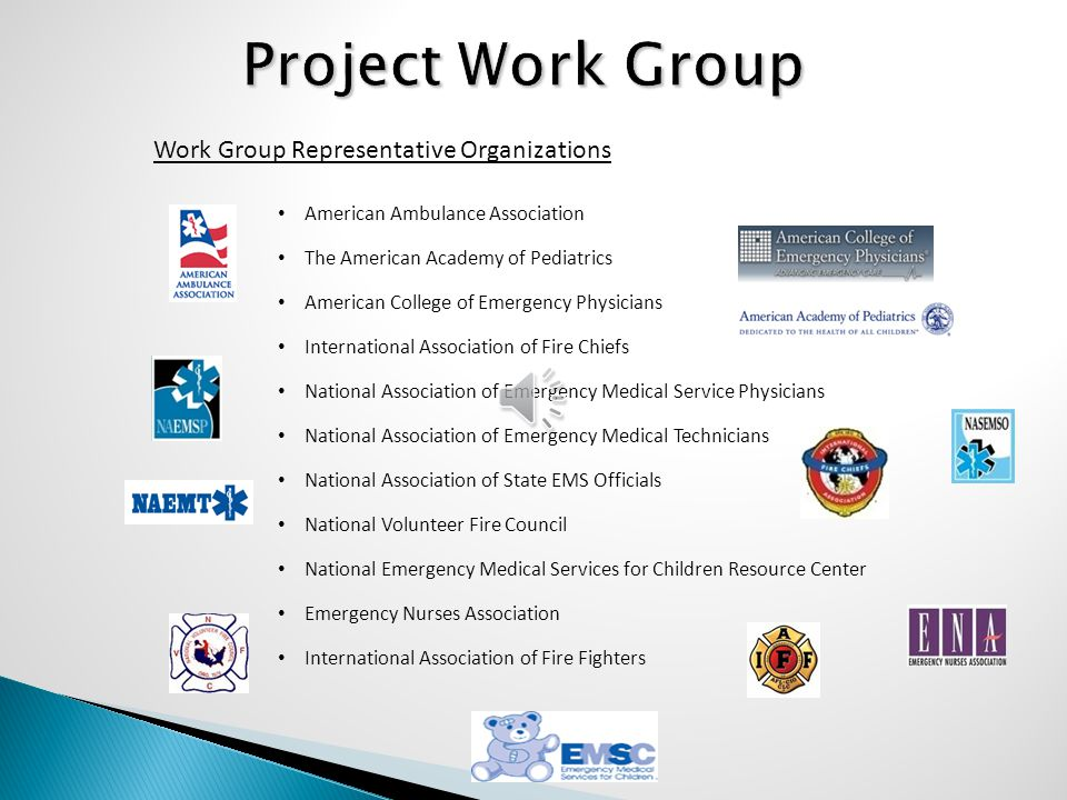 Project Work Group Work Group Representative Organizations