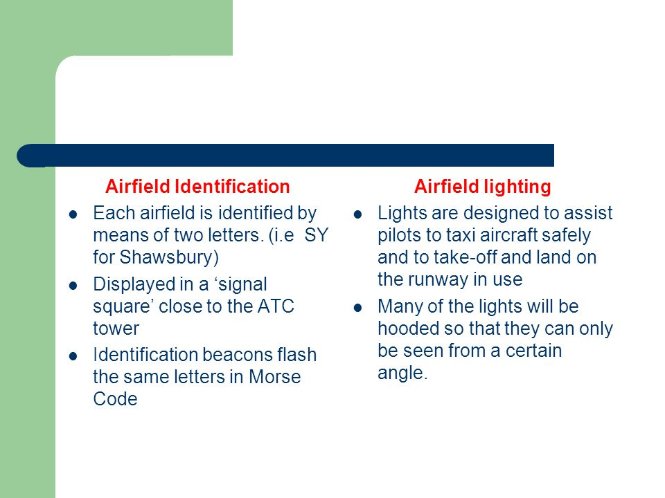 Airfield Identification