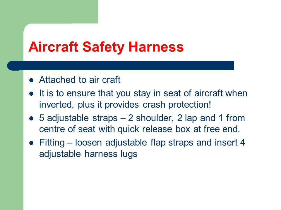 Aircraft Safety Harness