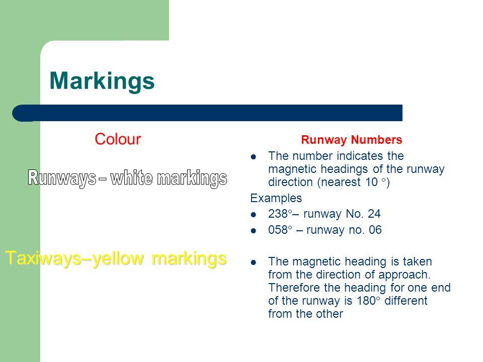 Runways – white markings