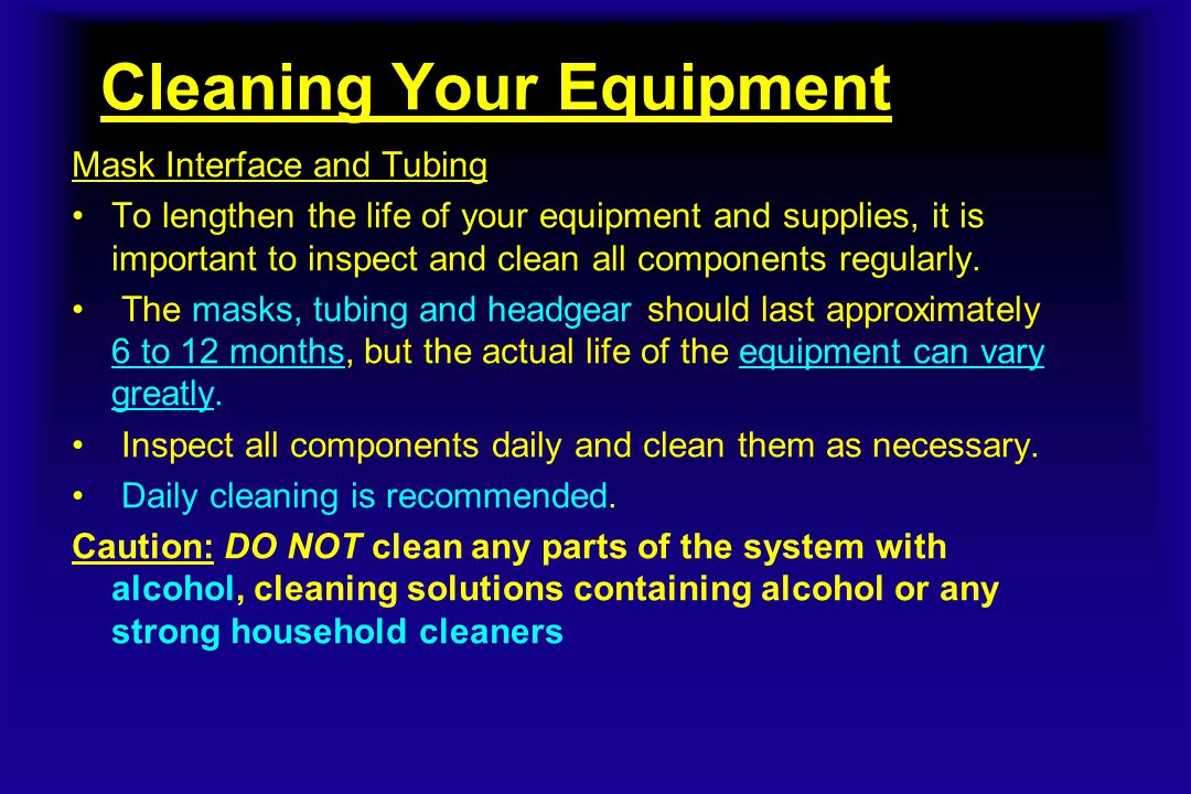 Cleaning Your Equipment