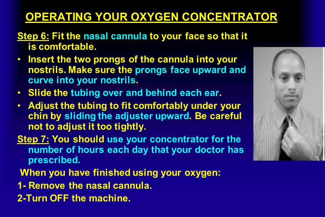 OPERATING YOUR OXYGEN CONCENTRATOR