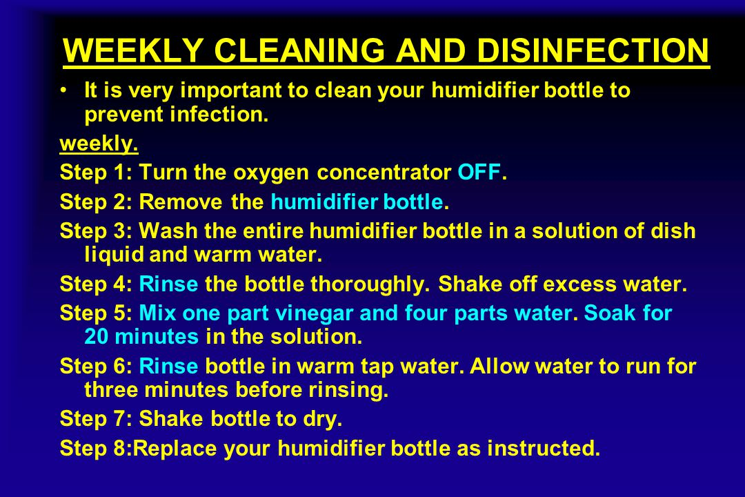 WEEKLY CLEANING AND DISINFECTION
