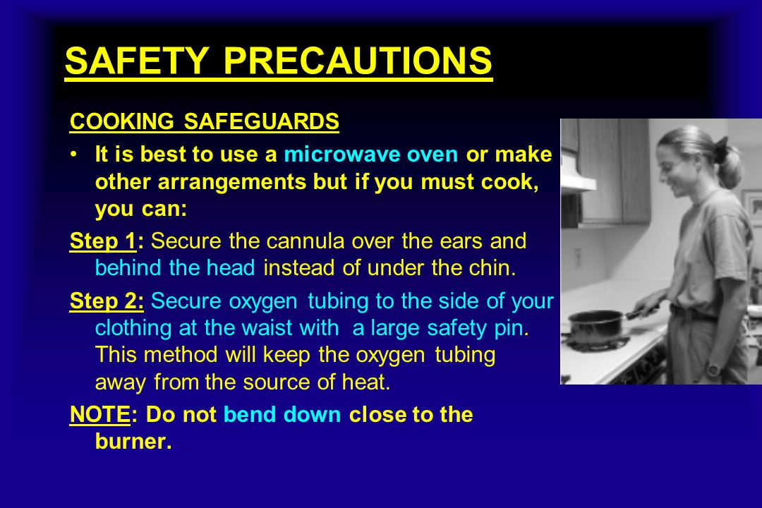 SAFETY PRECAUTIONS COOKING SAFEGUARDS