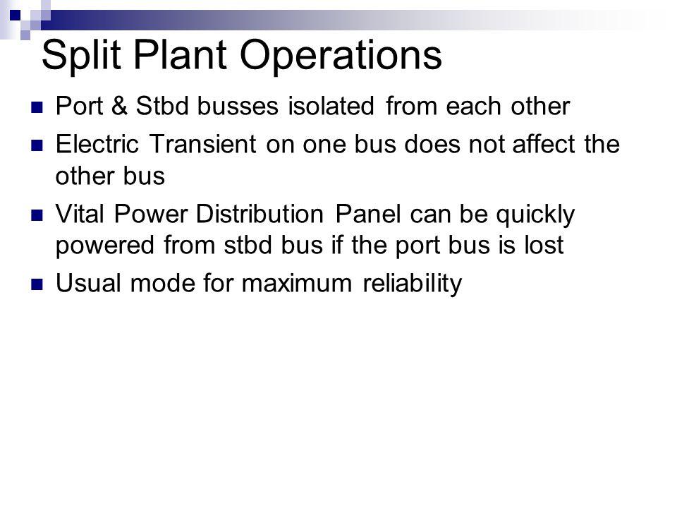 Split Plant Operations
