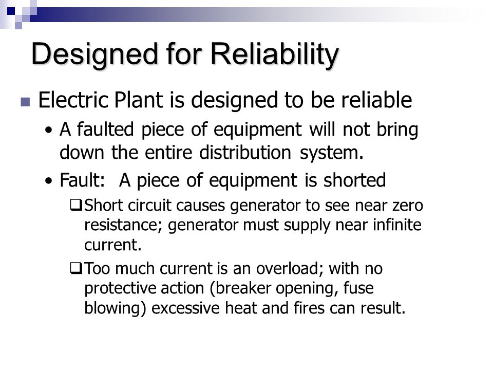 Designed for Reliability