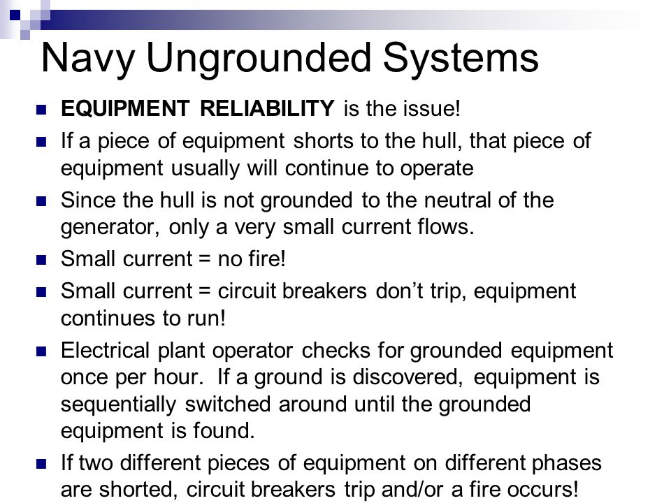 Navy Ungrounded Systems