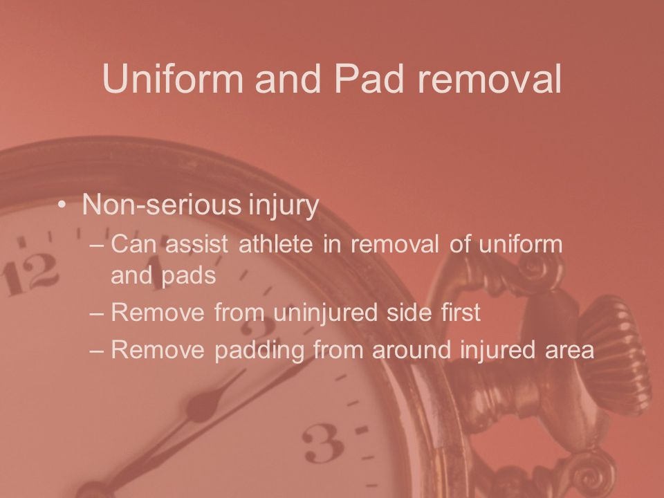 Uniform and Pad removal