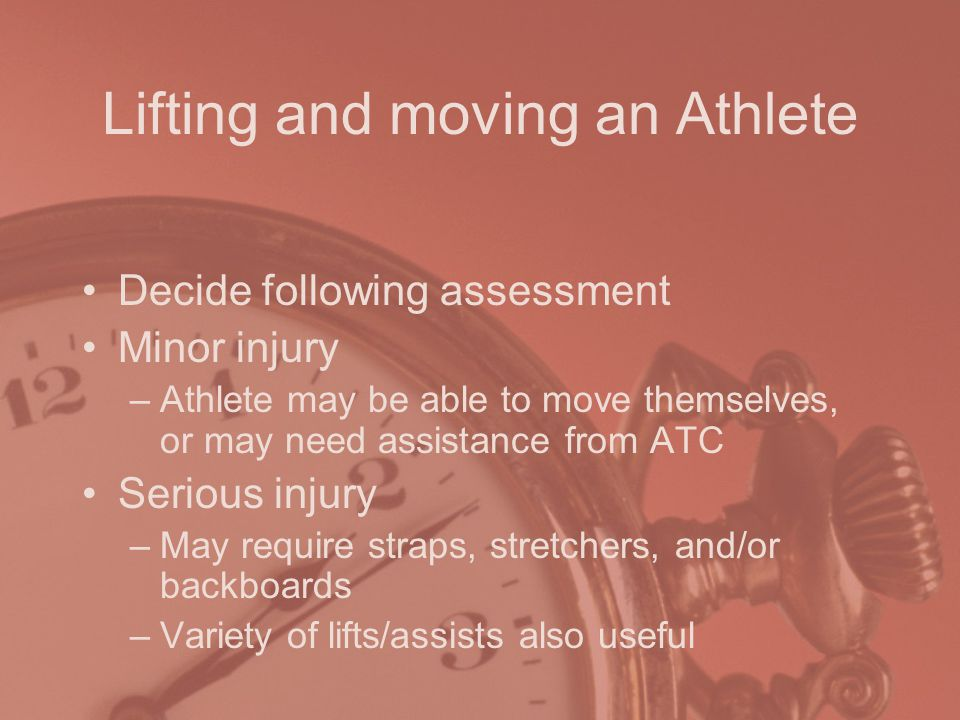 Lifting and moving an Athlete