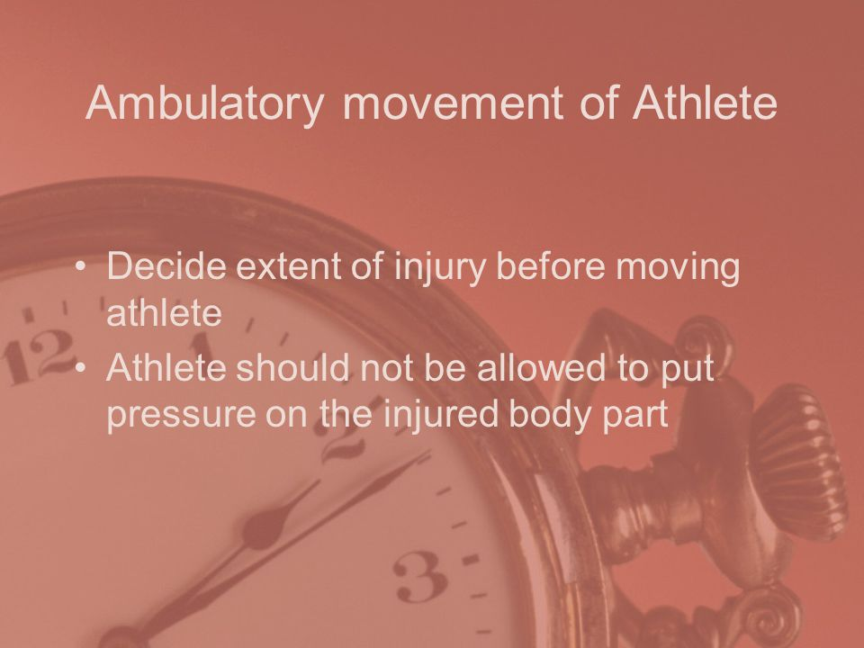 Ambulatory movement of Athlete