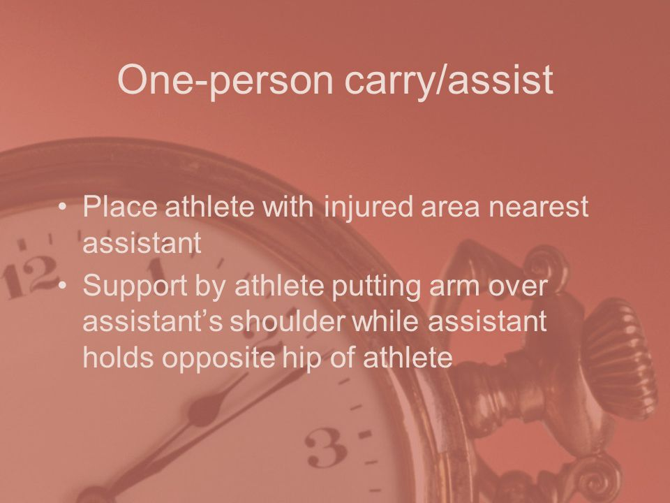 One-person carry/assist