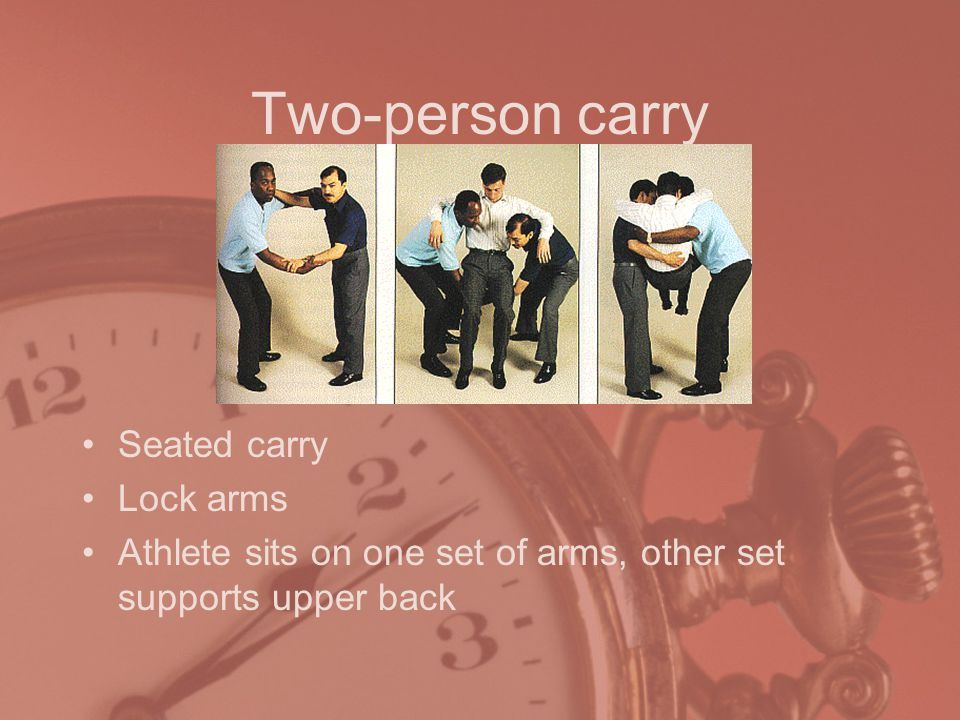 Two-person carry Seated carry Lock arms