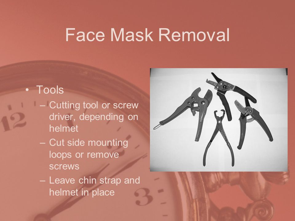 Face Mask Removal Tools