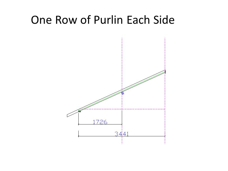 One Row of Purlin Each Side