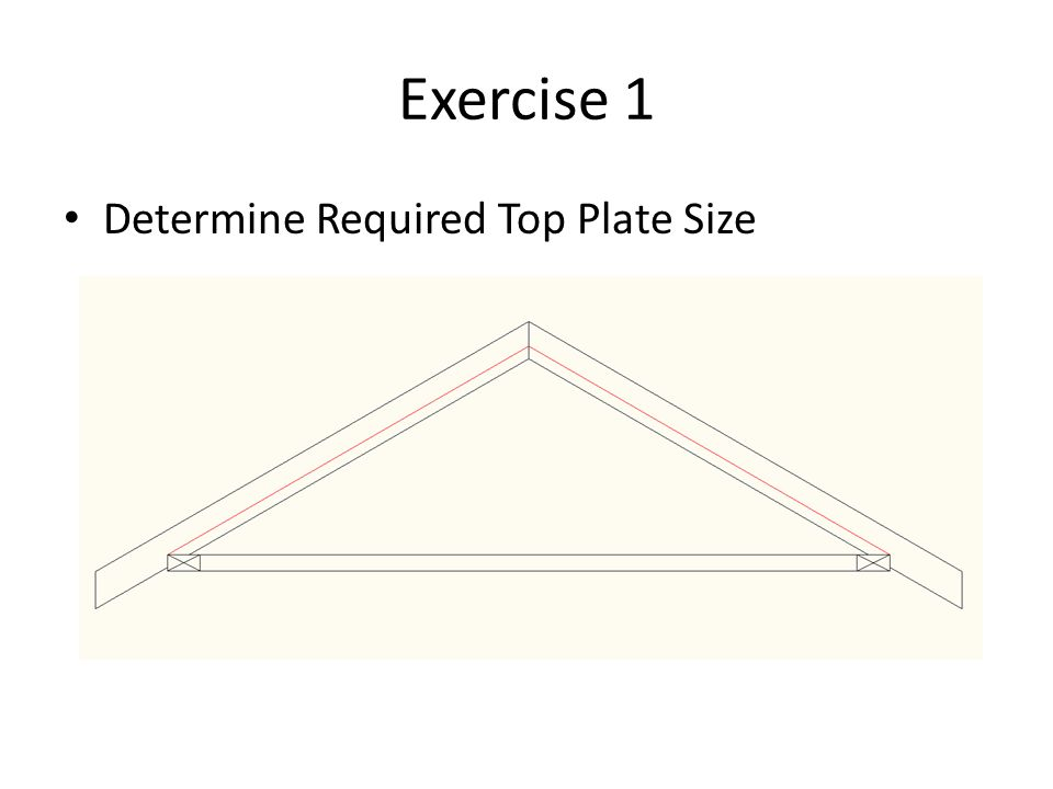 Exercise 1 Determine Required Top Plate Size