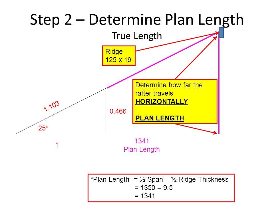 Step 2 – Determine Plan Length True Length