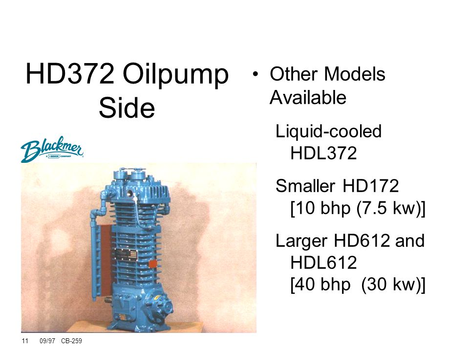 HD372 Oilpump Side Other Models Available Liquid-cooled HDL372