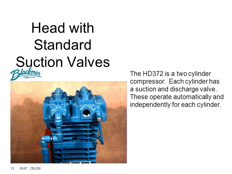 Head with Standard Suction Valves