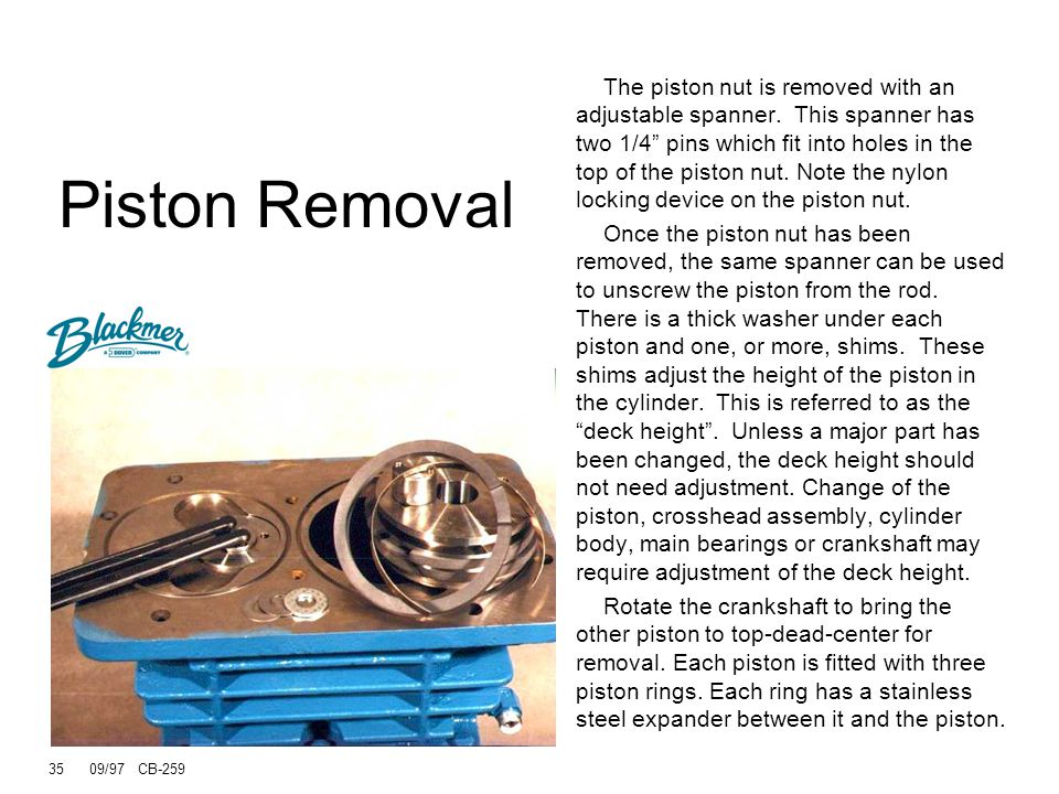 Piston Removal