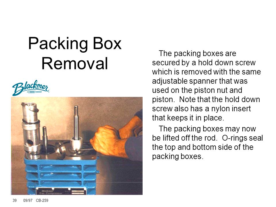Packing Box Removal