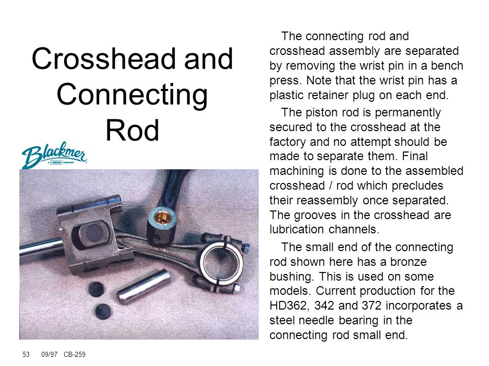 Crosshead and Connecting Rod