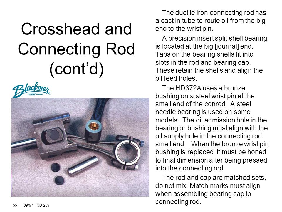Crosshead and Connecting Rod (cont'd)