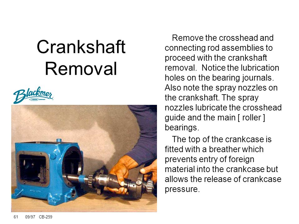 Crankshaft Removal