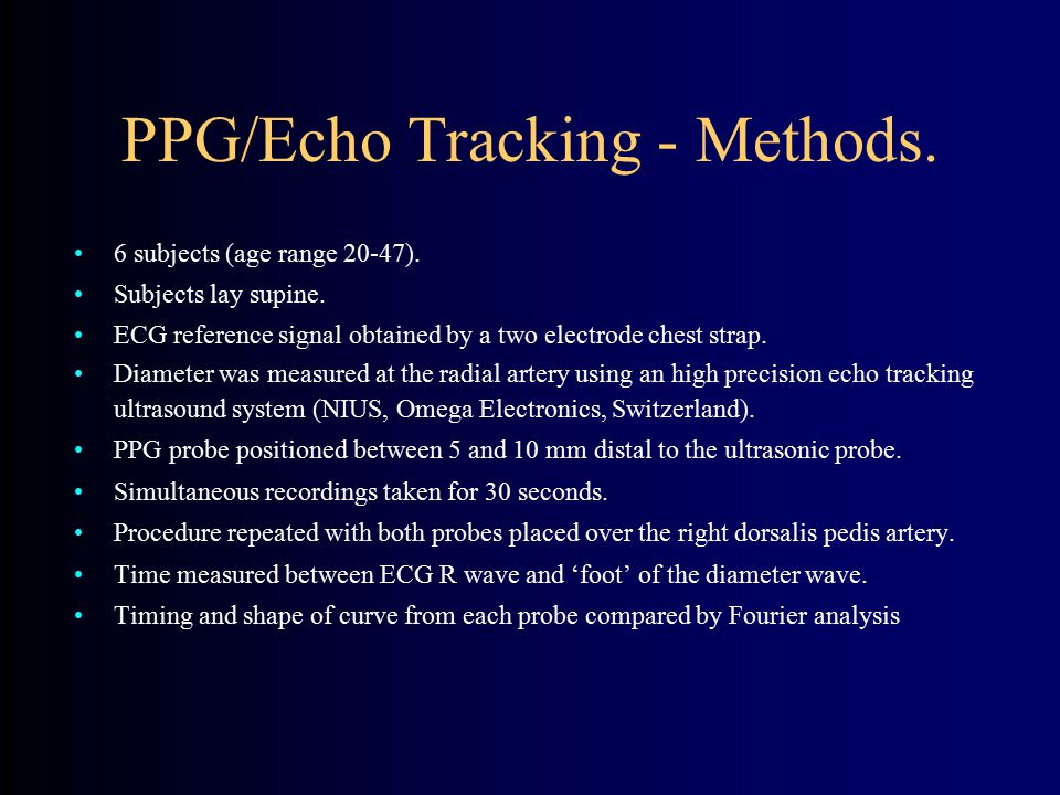 PPG/Echo Tracking - Methods.