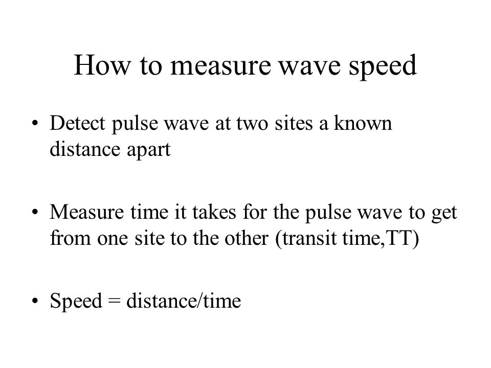 How to measure wave speed