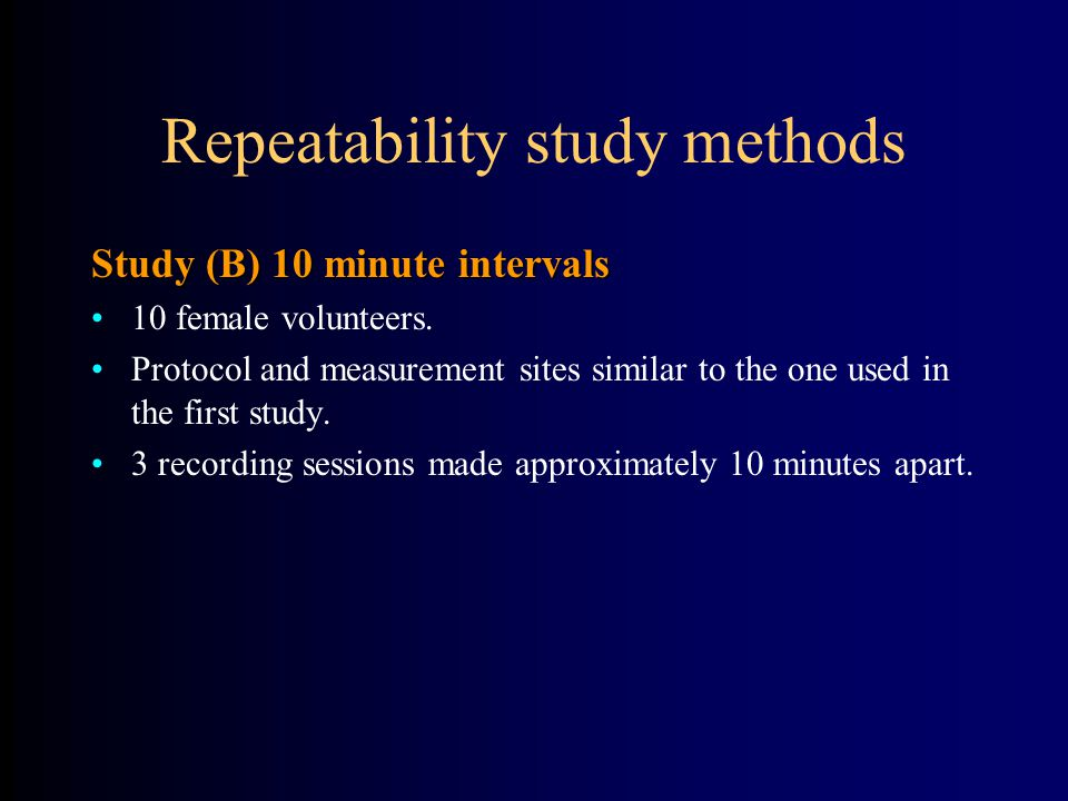 Repeatability study methods