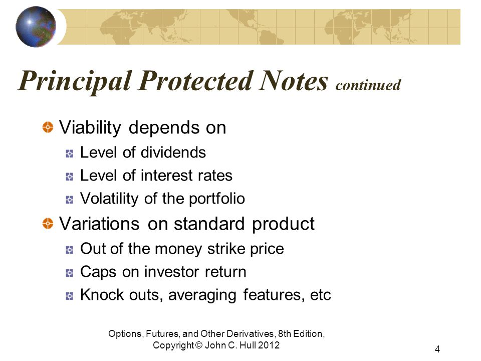 Principal Protected Notes continued