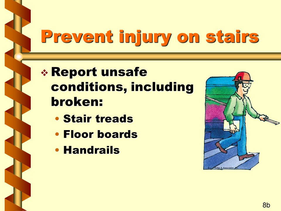 Prevent injury on stairs