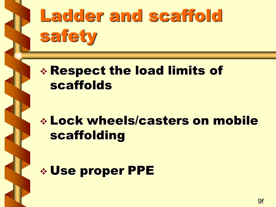 Ladder and scaffold safety