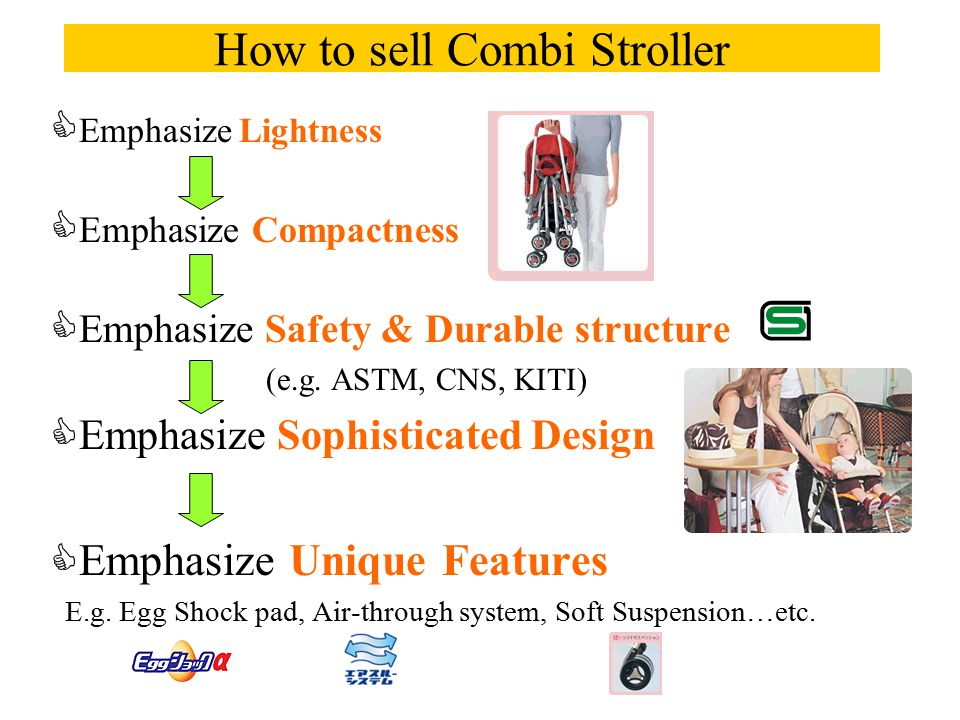 How to sell Combi Stroller