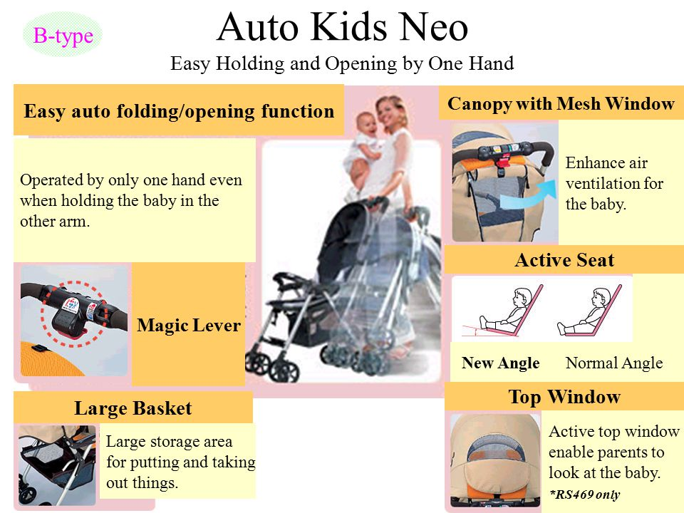 Auto Kids Neo Easy Holding and Opening by One Hand