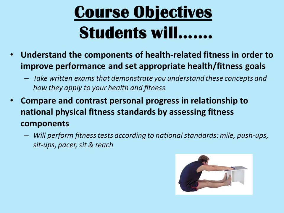 Course Objectives Students will…….