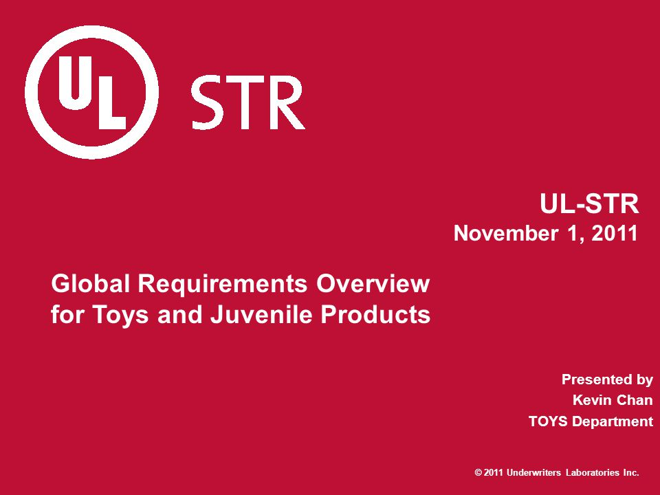 Global Requirements Overview for Toys and Juvenile Products