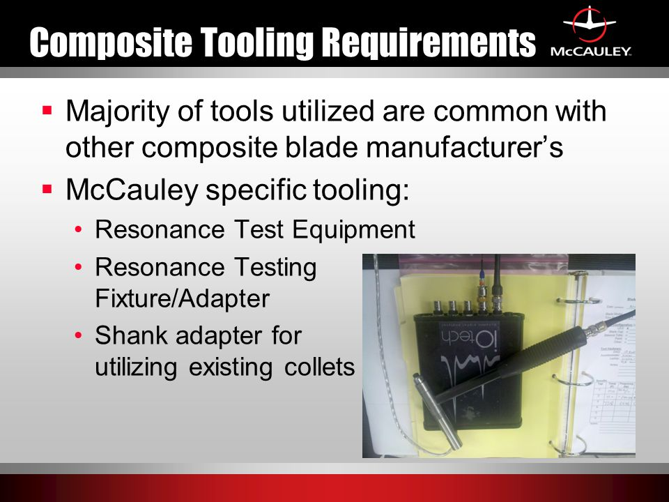 Composite Tooling Requirements