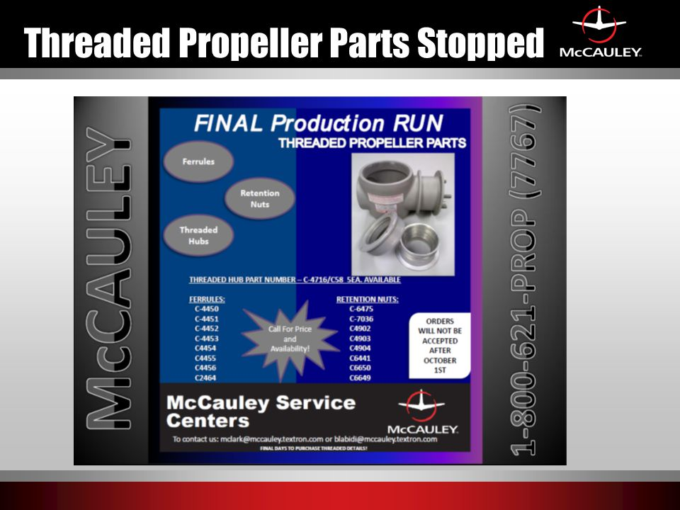 Threaded Propeller Parts Stopped